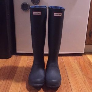 Authentic Blue Tall Hunter Boots